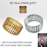 +M's Avon+Gold&Silver Stitch bracelet _001