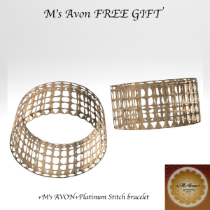 +M's AVON+Platinum Stitch braceletPOP