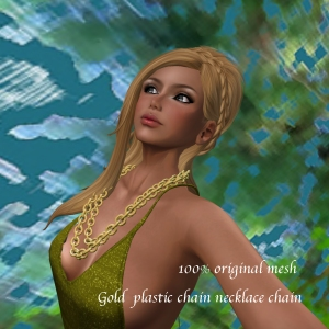 Gold plastic chain necklace