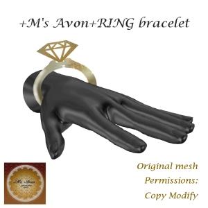 +M's Avon+RING bracelet