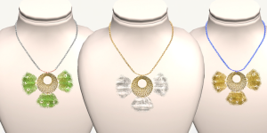 +M'sAvon+PeacockWire Vintage Necklace-1024