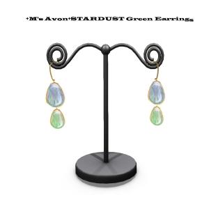 +M's Avon+STARDUST Green Earringのコピー