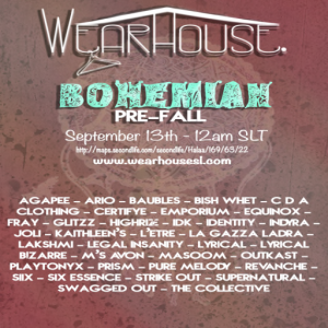 WearHouse Bohemian Ad