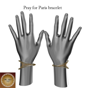 Pray for Paris bracelet+ M's Avon+_001