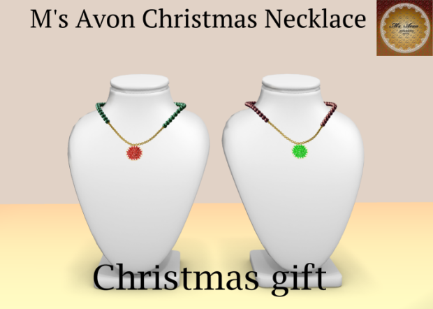 +M's Avon+Christmas Necklace002_001のコピー