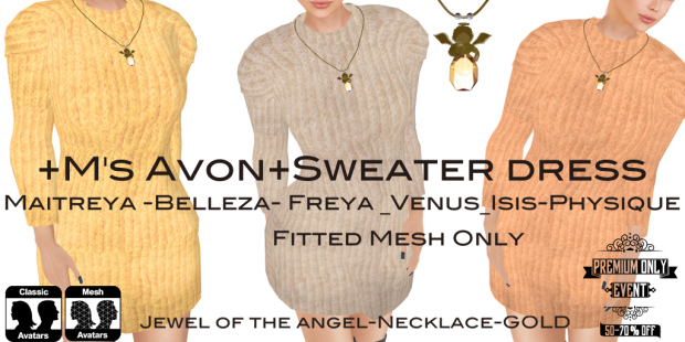 +M's Avon+Sweater dress-preonly70%off