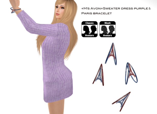 +M's Avon+Sweater dress purple _GF