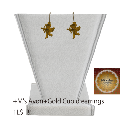 +M's Avon+gold Cupid earring _001