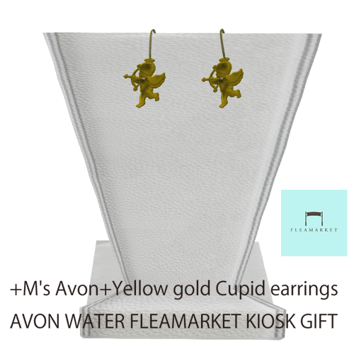 +M's Avon+Yellow gold Cupid earring _002