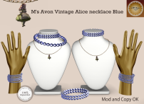 M's Avon Vintage Alice necklace Blue
