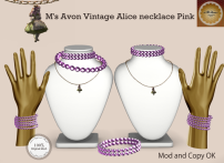 M's Avon Vintage Alice necklace Pink