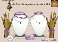 M's Avon Vintage Alice necklace Pink