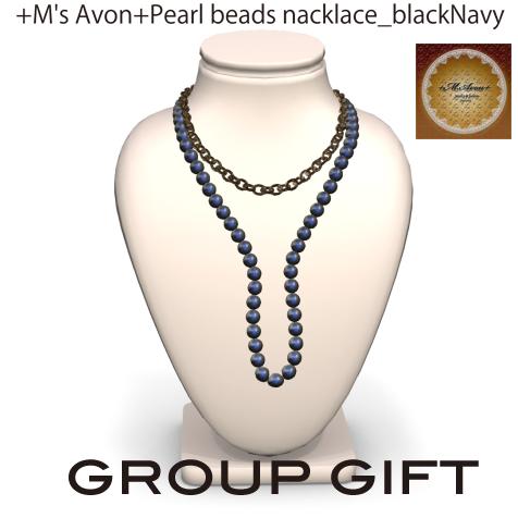 +M's Avon+Pearl beads nacklace_blackNavy_POP