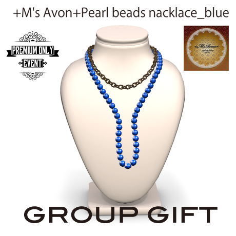 +M's Avon+Pearl beads nacklace_blue_POP
