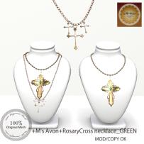 +M's Avon+Rosary Necklace_GREENpop