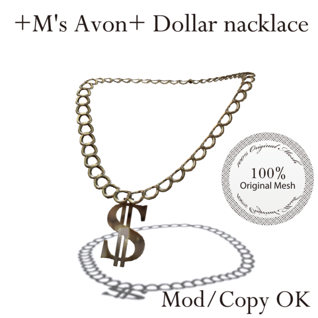 +M's Avon+ Dollar nacklace