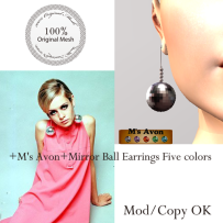 +M's Avon+Mirror Ball Earrings Five colors