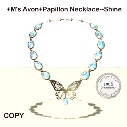 +M's Avon+Papillon Necklace--Shine_AD