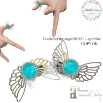 +M's Avon+Feather of the angel RING Light blue
