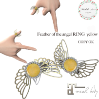 +M's Avon+Feather of the angel RING Yellow