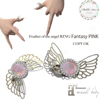 +M's Avon+Feather of the angel RING Fantasy pink